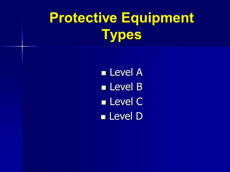 Protective Equipment Types