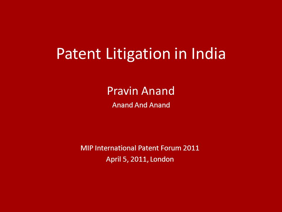 Patent Litigation in India