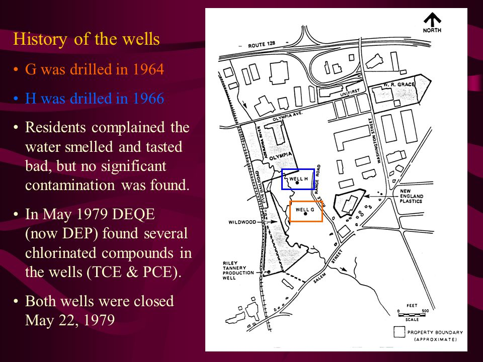History of the wells G was drilled in 1964 H was drilled in 1966