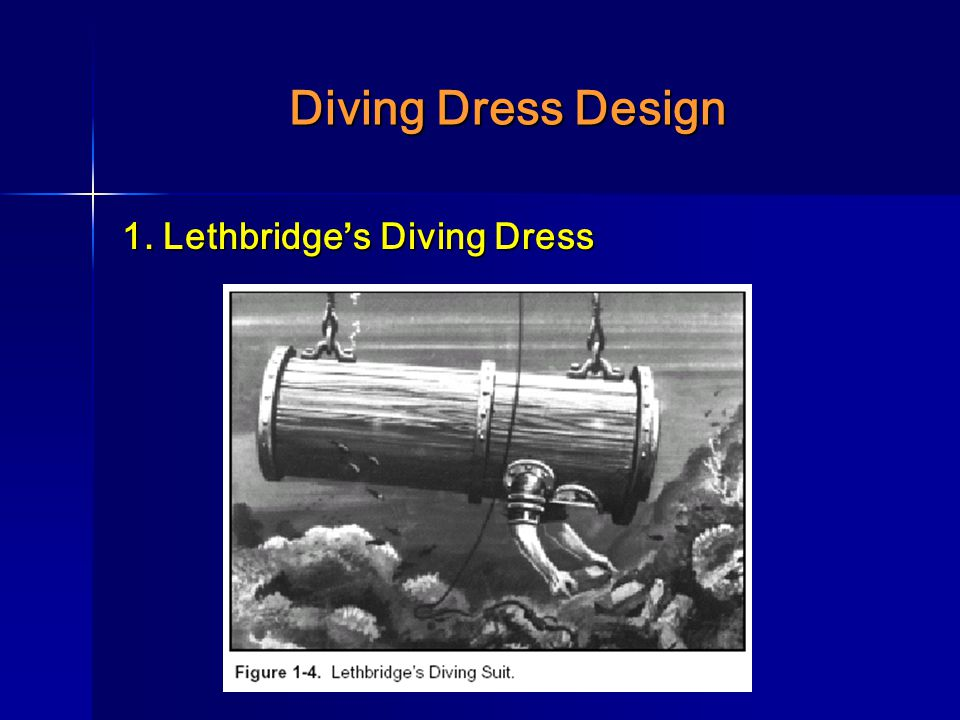 Diving Dress Design 1. Lethbridge's Diving Dress