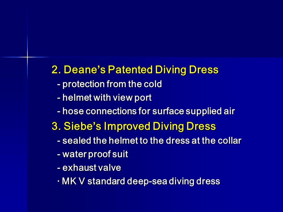 2. Deane's Patented Diving Dress