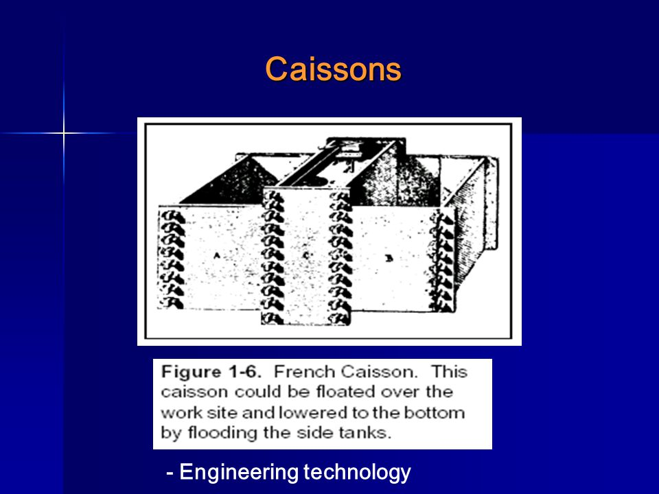 Caissons - Engineering technology