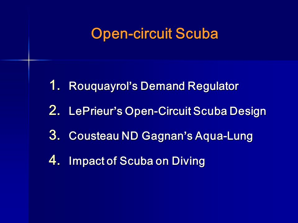 Open-circuit Scuba Rouquayrol's Demand Regulator