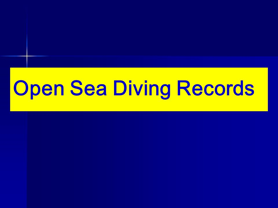 Open Sea Diving Records