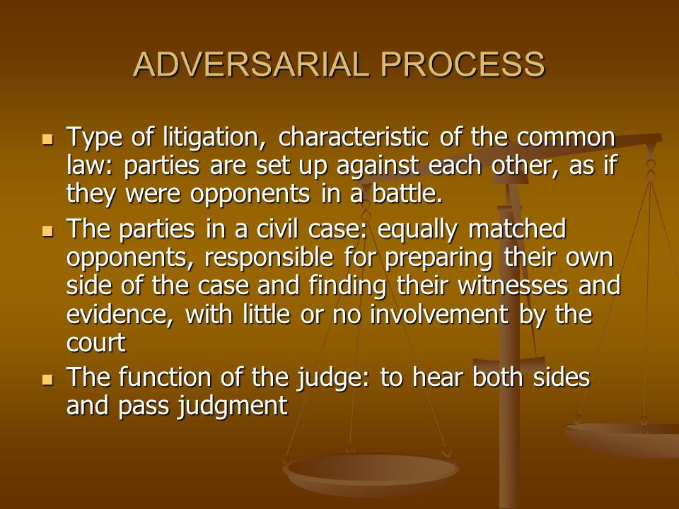 ADVERSARIAL PROCESS