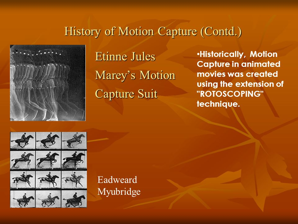 History of Motion Capture (Contd.)