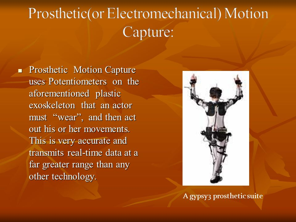 Prosthetic(or Electromechanical) Motion Capture:
