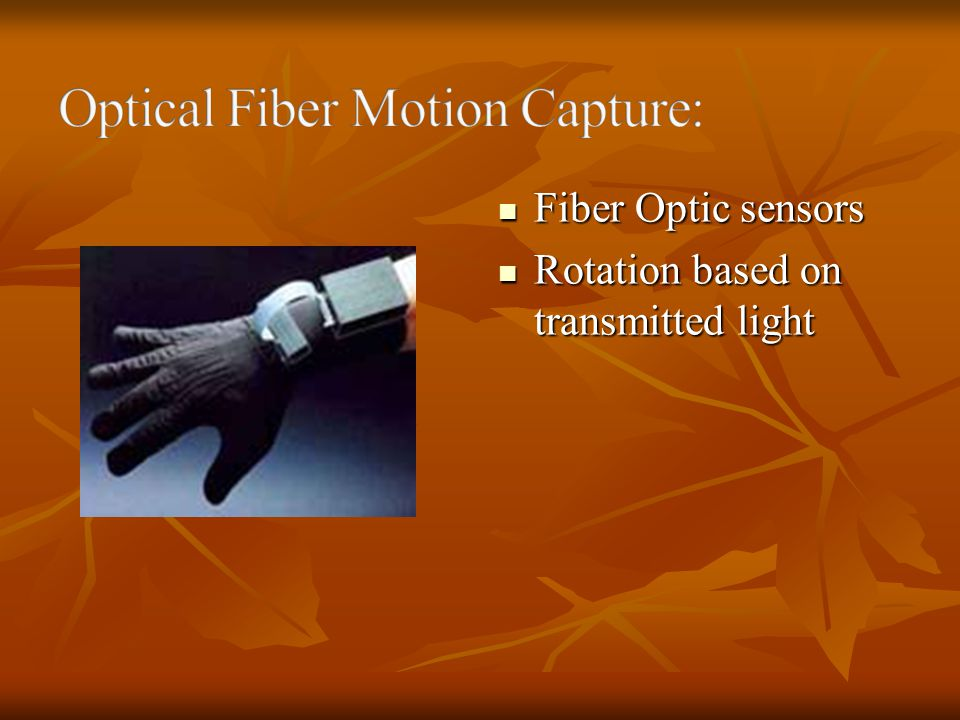 Optical Fiber Motion Capture: