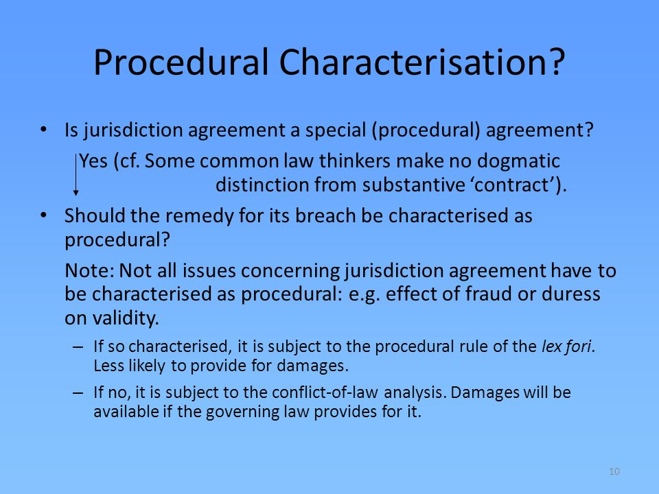 Procedural Characterisation