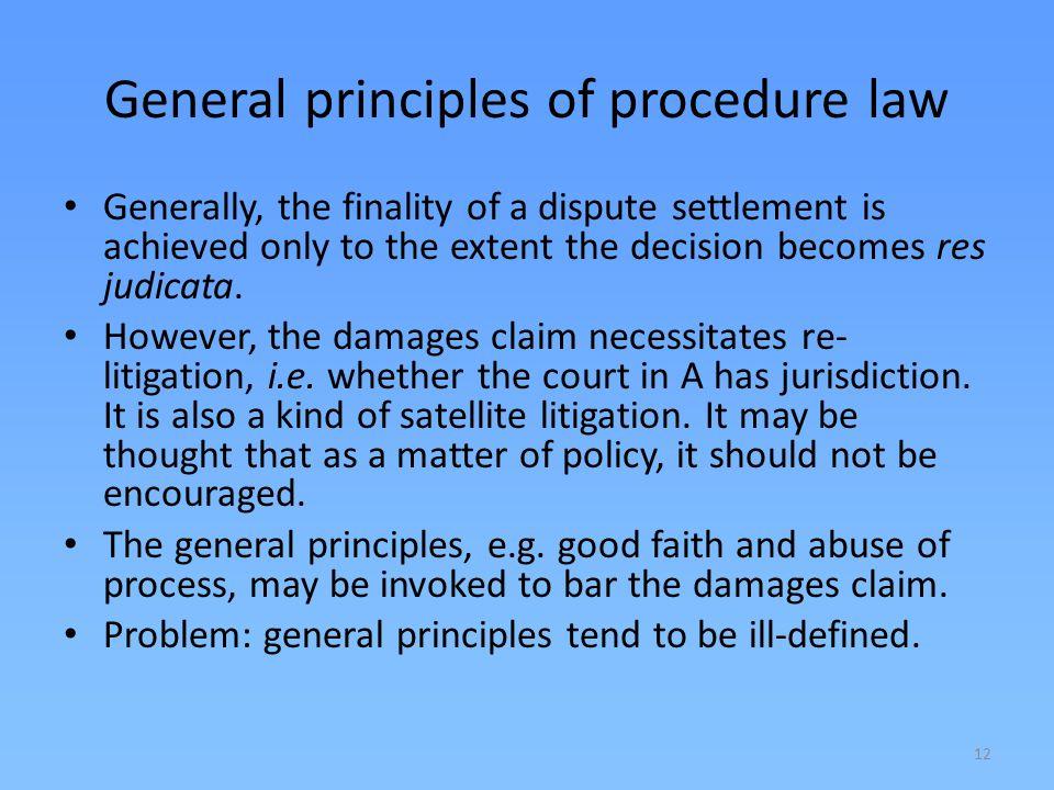 General principles of procedure law