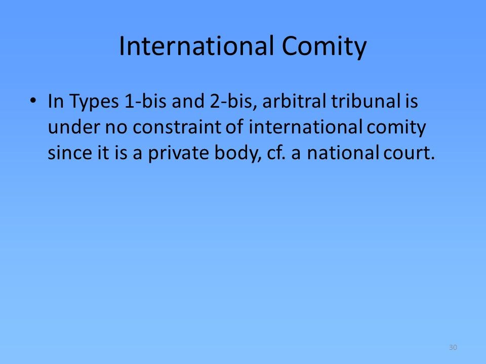 International Comity