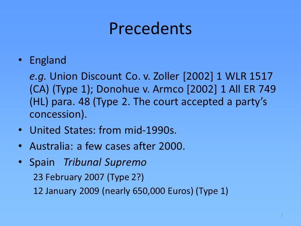 Precedents England.
