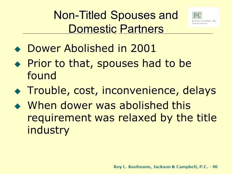 Non-Titled Spouses and Domestic Partners