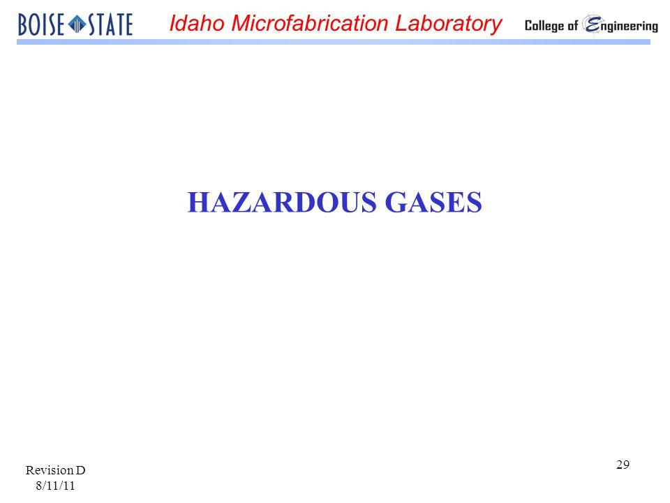 HAZARDOUS GASES Revision D 8/11/11