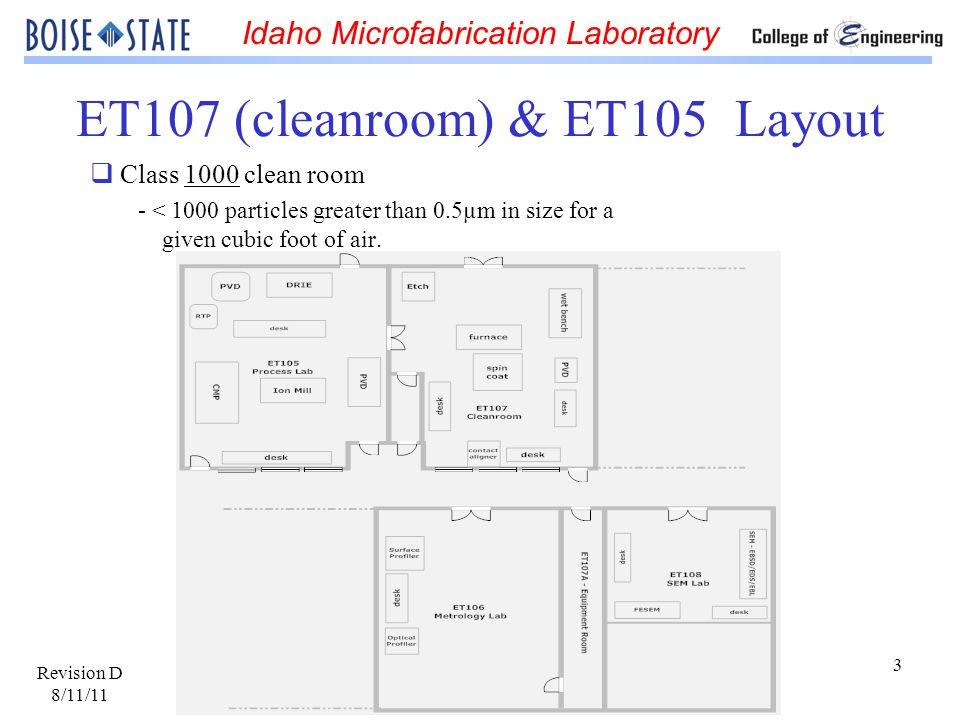 ET107 (cleanroom) & ET105 Layout