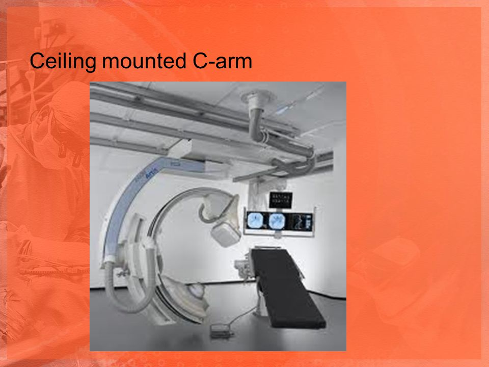 Ceiling mounted C-arm