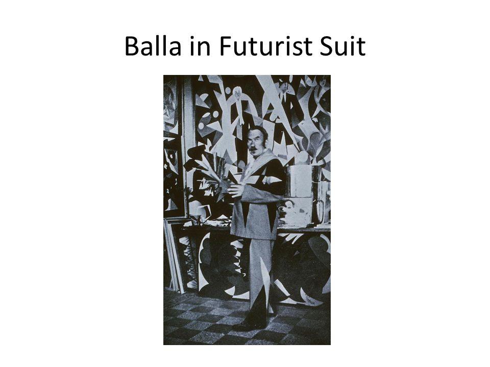 Balla in Futurist Suit