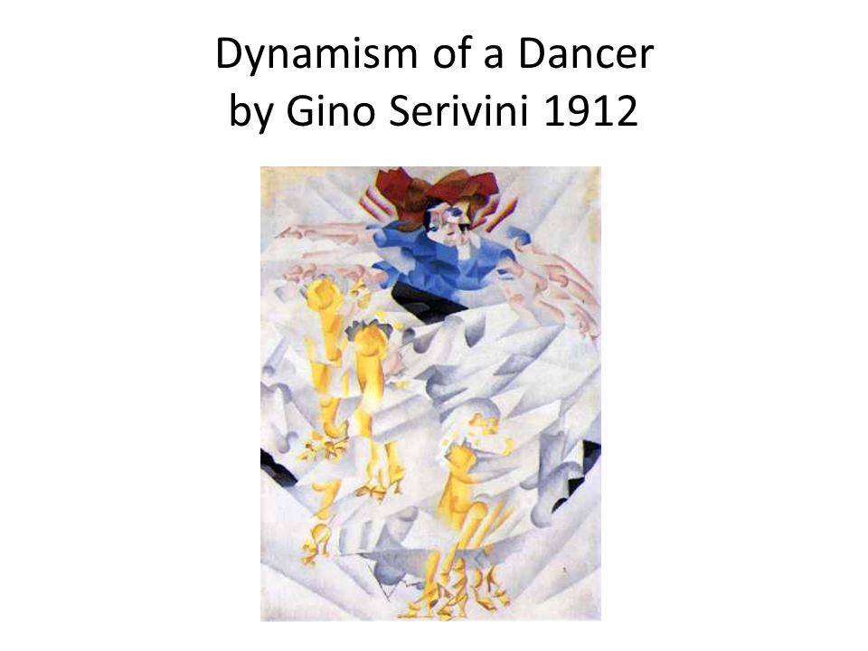 Dynamism of a Dancer by Gino Serivini 1912