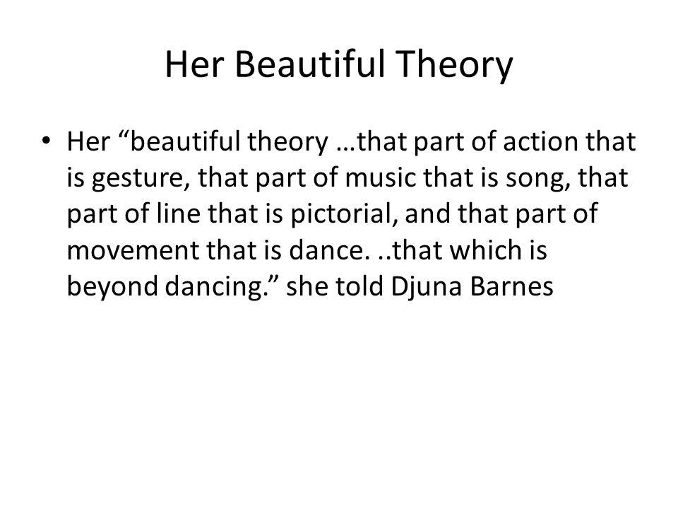 Her Beautiful Theory