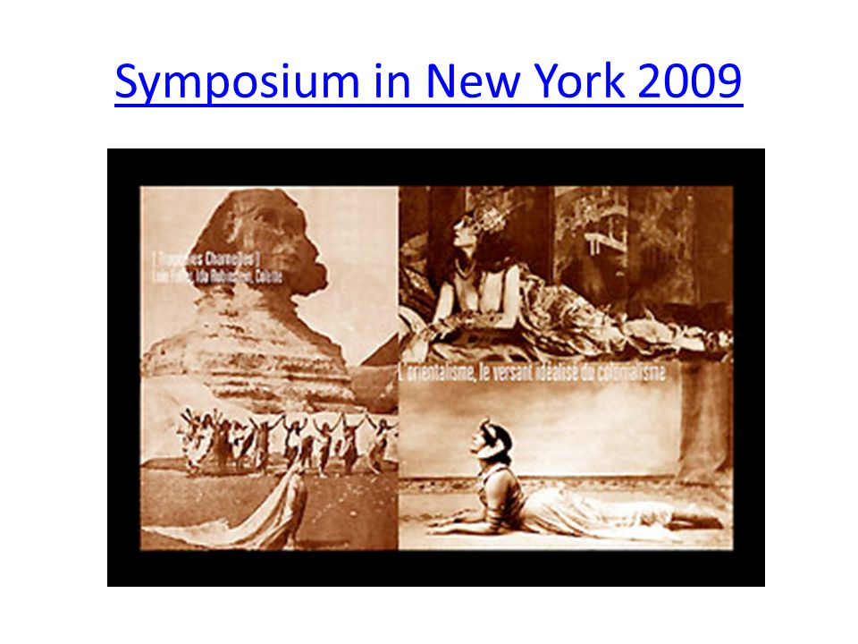 Symposium in New York 2009