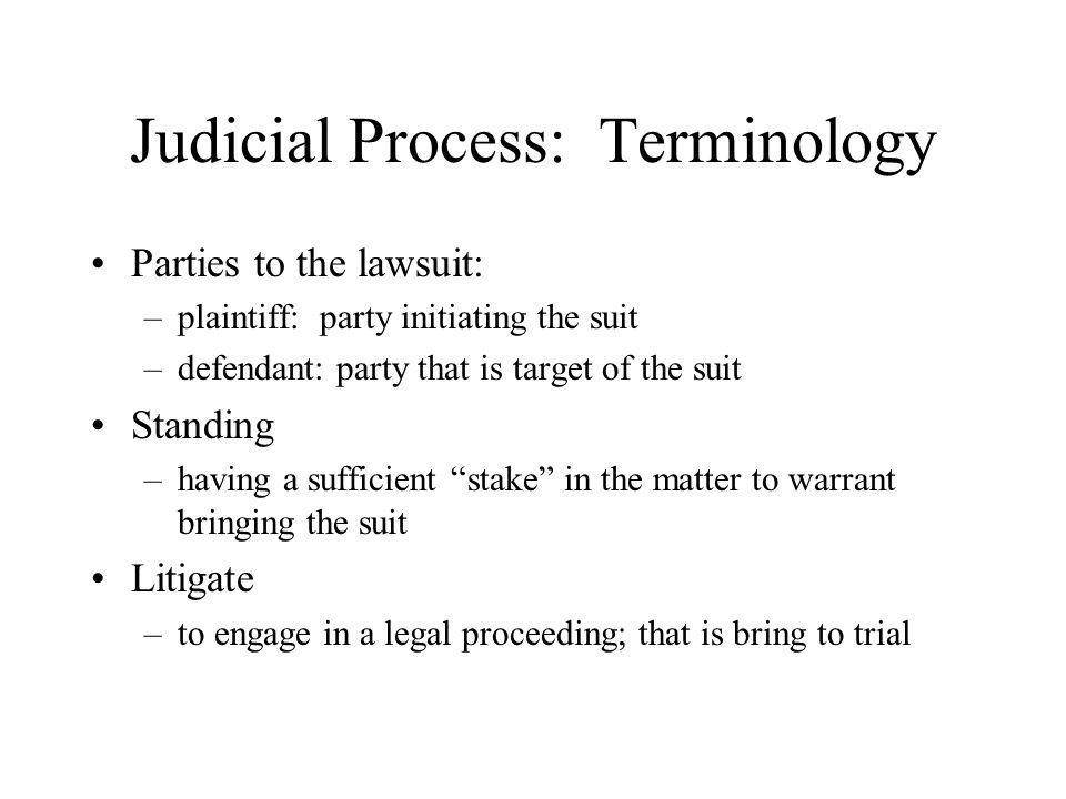 Judicial Process: Terminology