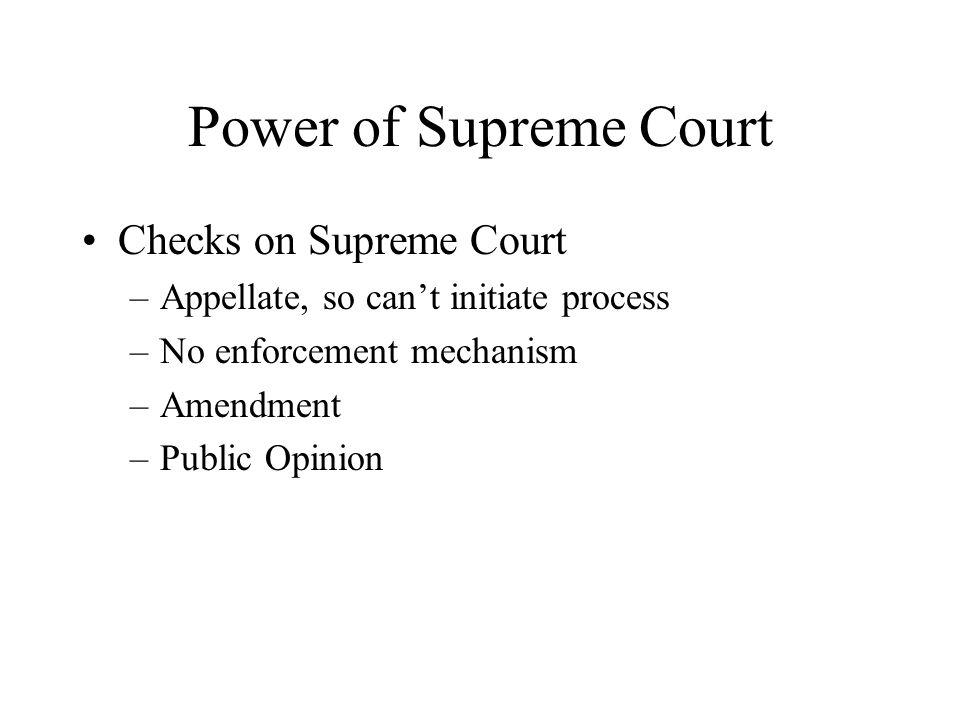 Power of Supreme Court Checks on Supreme Court