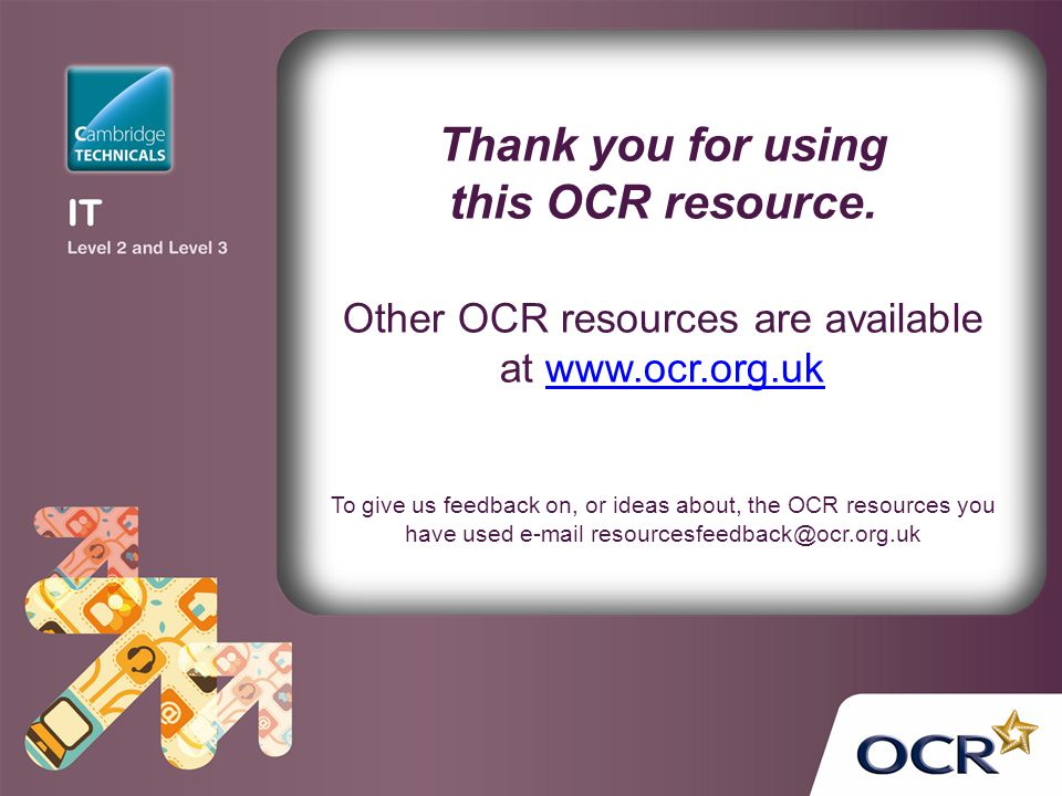 Other OCR resources are available