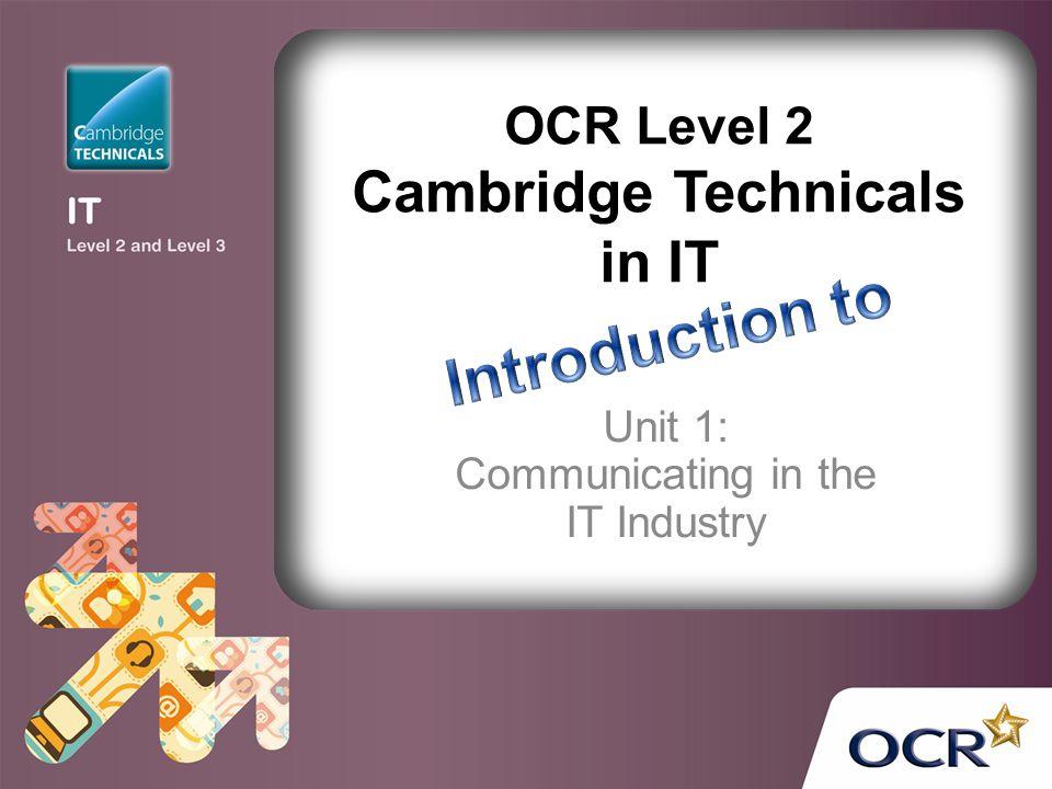 OCR Level 2 Cambridge Technicals in IT