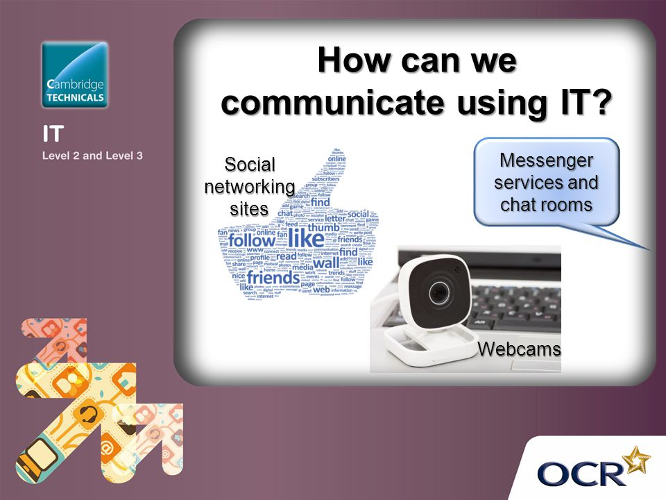 How can we communicate using IT