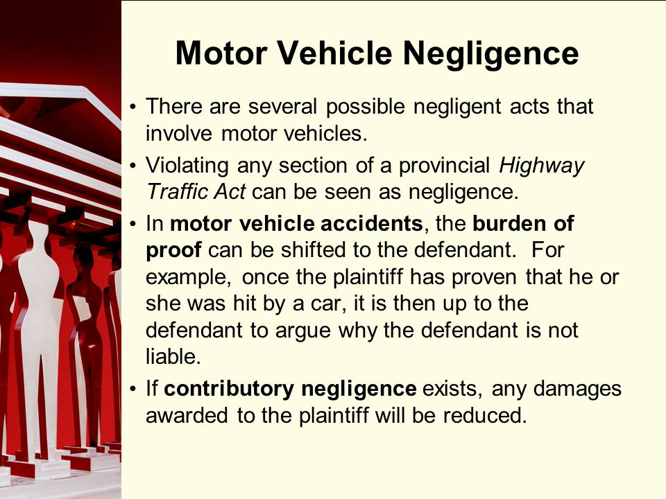 Motor Vehicle Negligence
