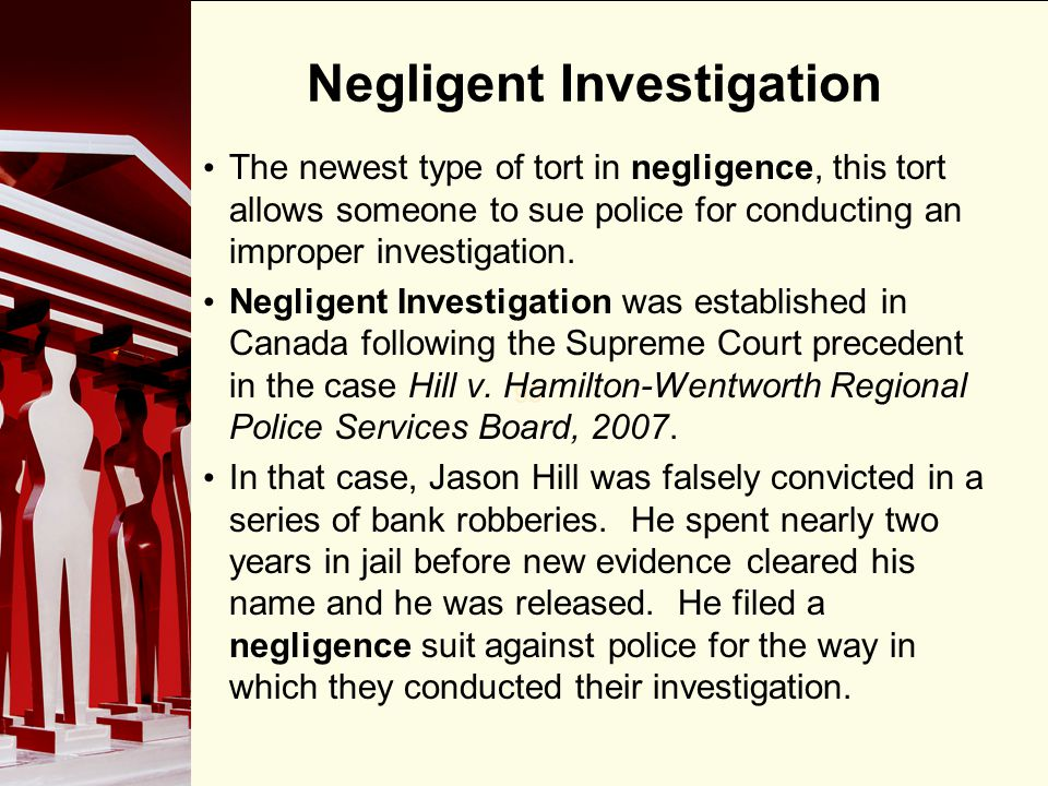 Negligent Investigation