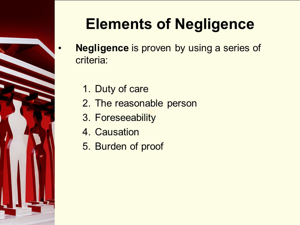 Elements of Negligence