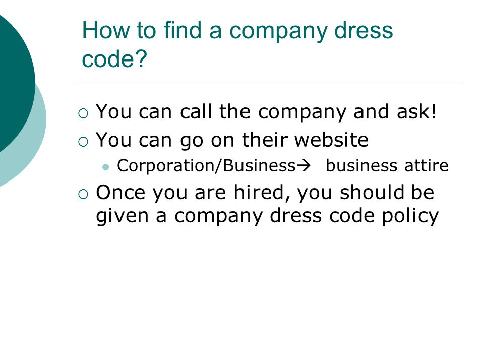 How to find a company dress code