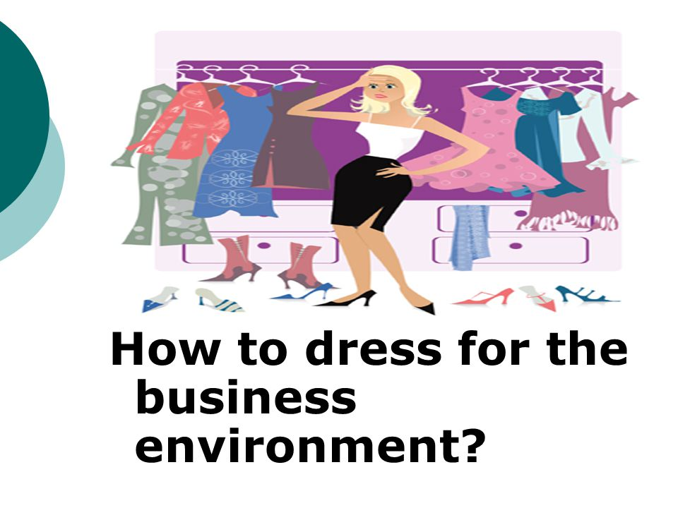How to dress for the business environment