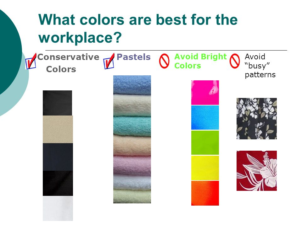 What colors are best for the workplace