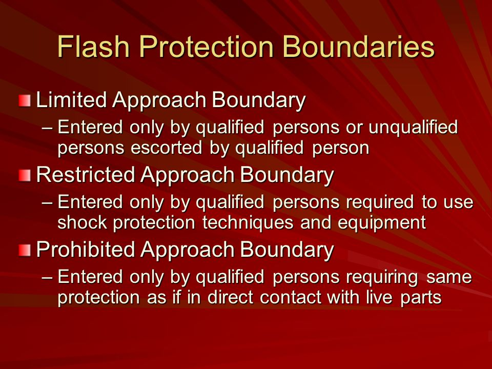 Flash Protection Boundaries