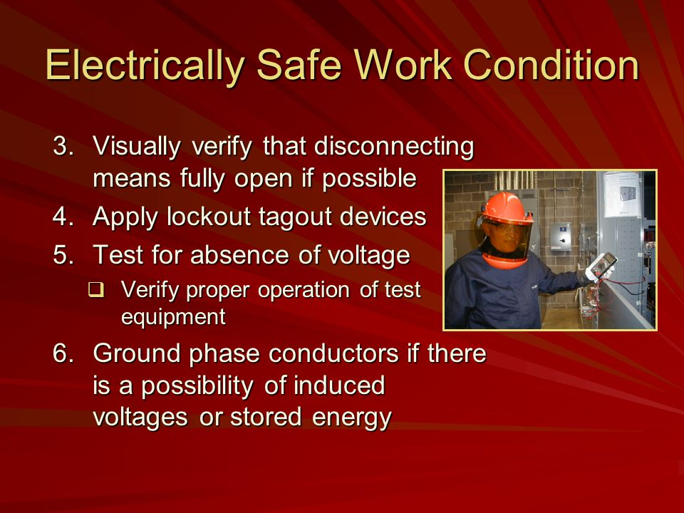 Electrically Safe Work Condition