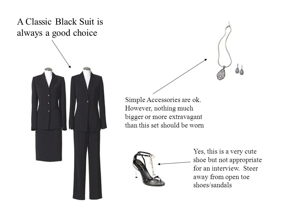 A Classic Black Suit is always a good choice