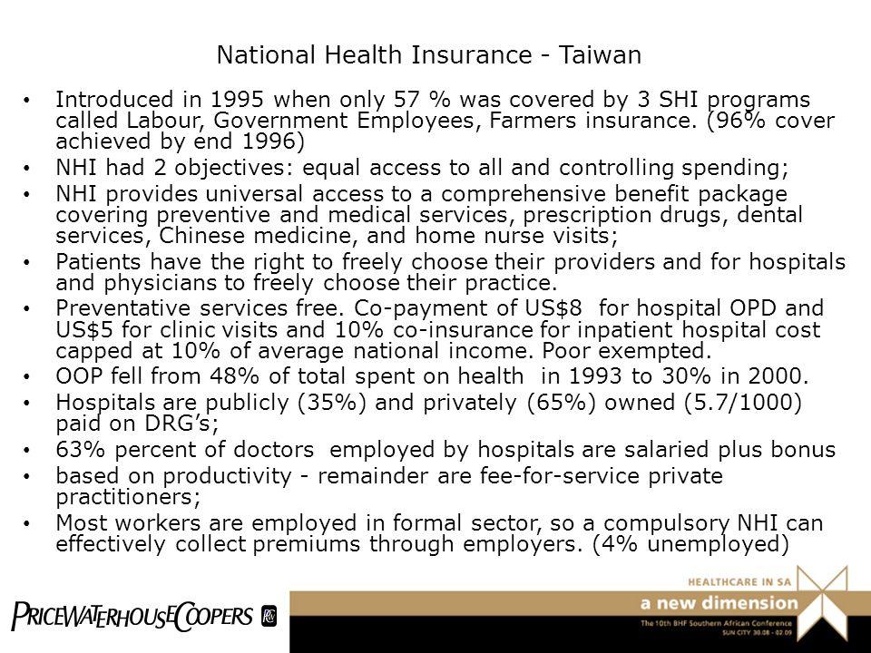 National Health Insurance - Taiwan