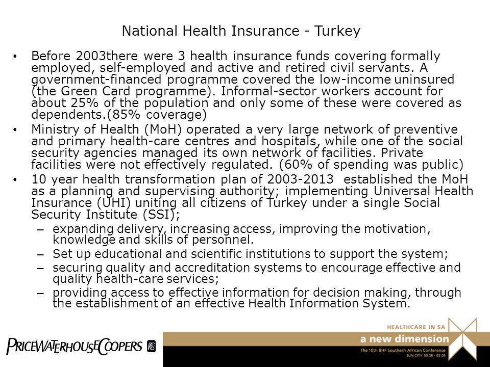 National Health Insurance - Turkey