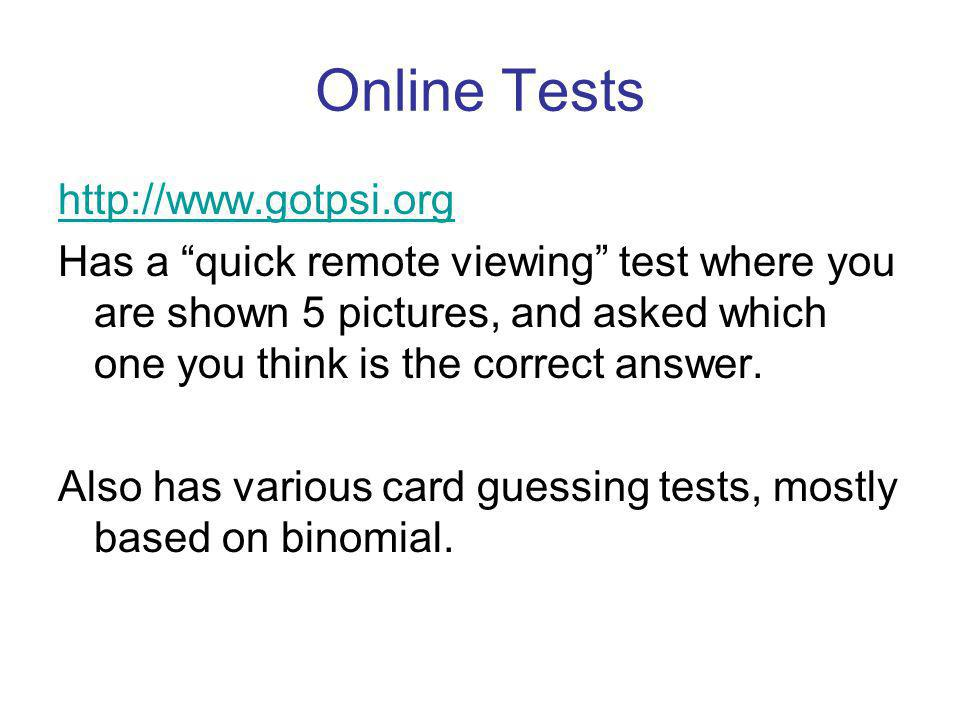 Online Tests http://www.gotpsi.org