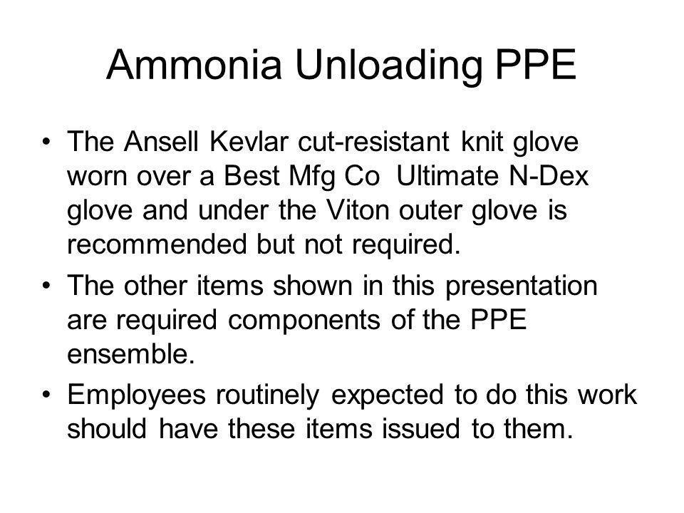 Ammonia Unloading PPE