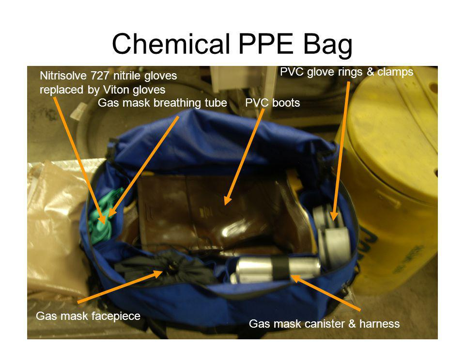 Chemical PPE Bag PVC glove rings & clamps