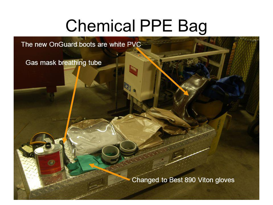 Chemical PPE Bag The new OnGuard boots are white PVC