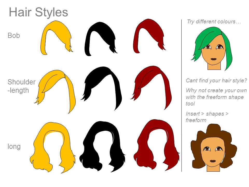 Hair Styles Bob Shoulder-length long Try different colours…