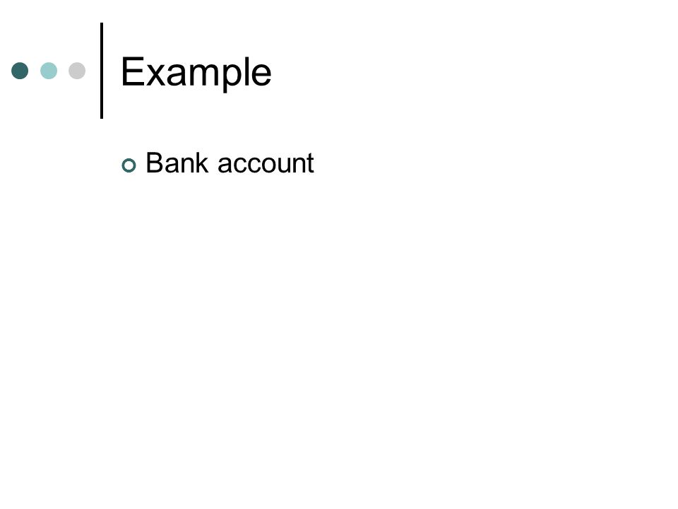 Example Bank account