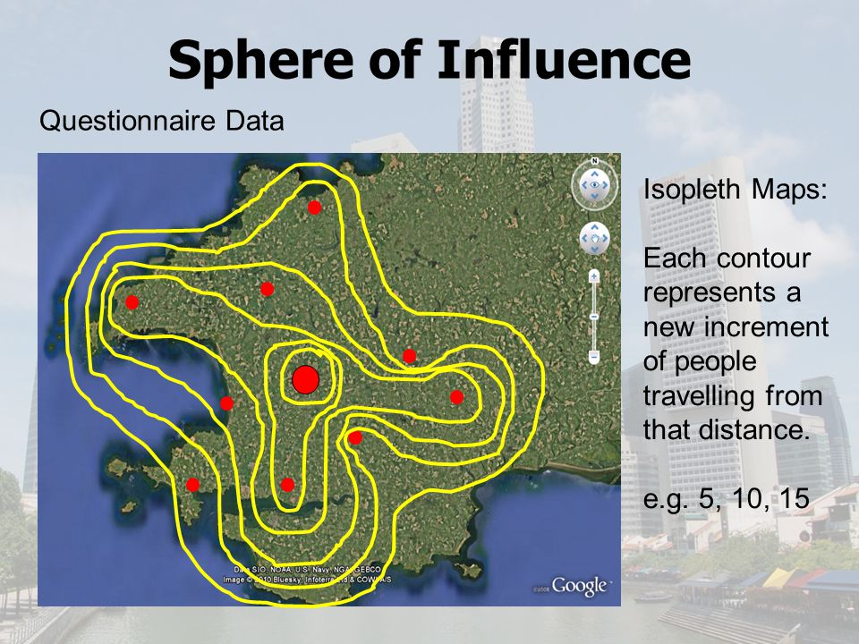 Sphere of Influence Questionnaire Data Isopleth Maps: