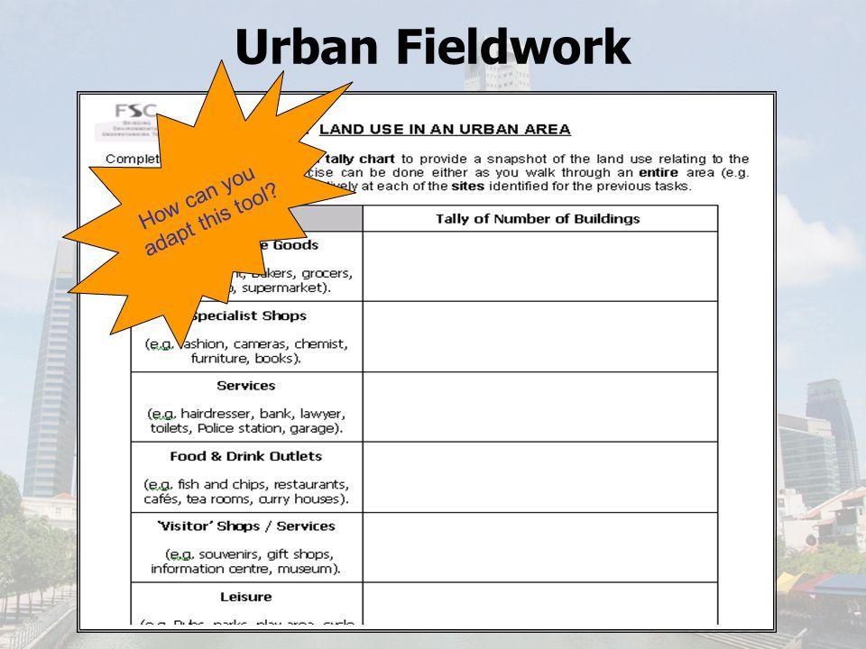 Urban Fieldwork Environmental Quality Assessment (EQA)