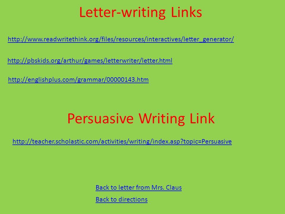 Persuasive Writing Link