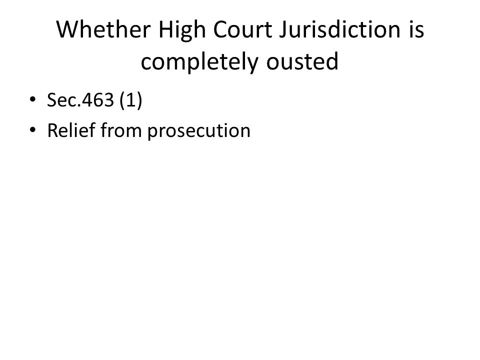 Whether High Court Jurisdiction is completely ousted